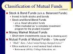 classification of mutual funds27