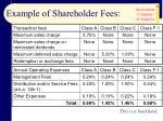 example of shareholder fees