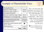 example of shareholder fees13