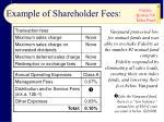 example of shareholder fees14