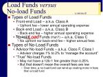 load funds versus no load funds9