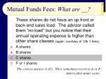 mutual funds fees what are22