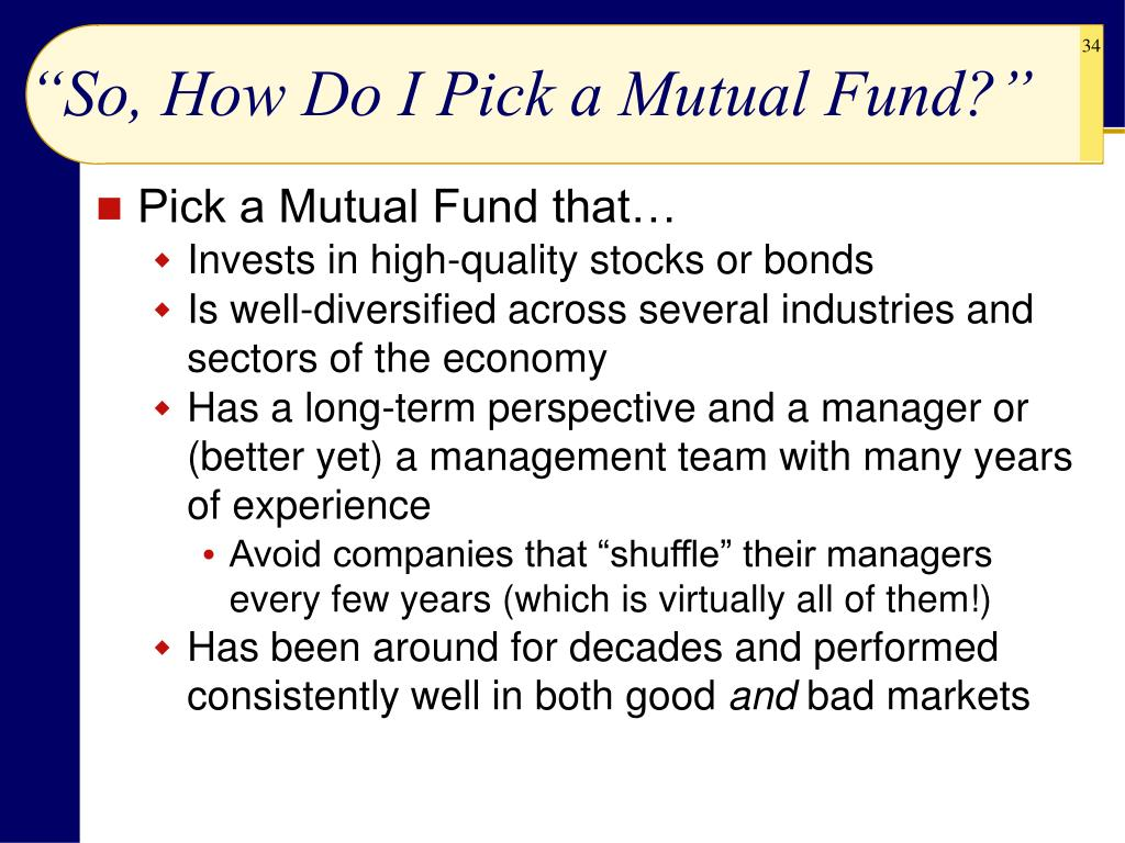 """""""So, How Do I Pick a Mutual Fund?"""""""