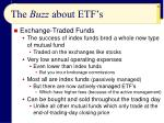the buzz about etf s