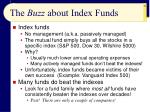 the buzz about index funds