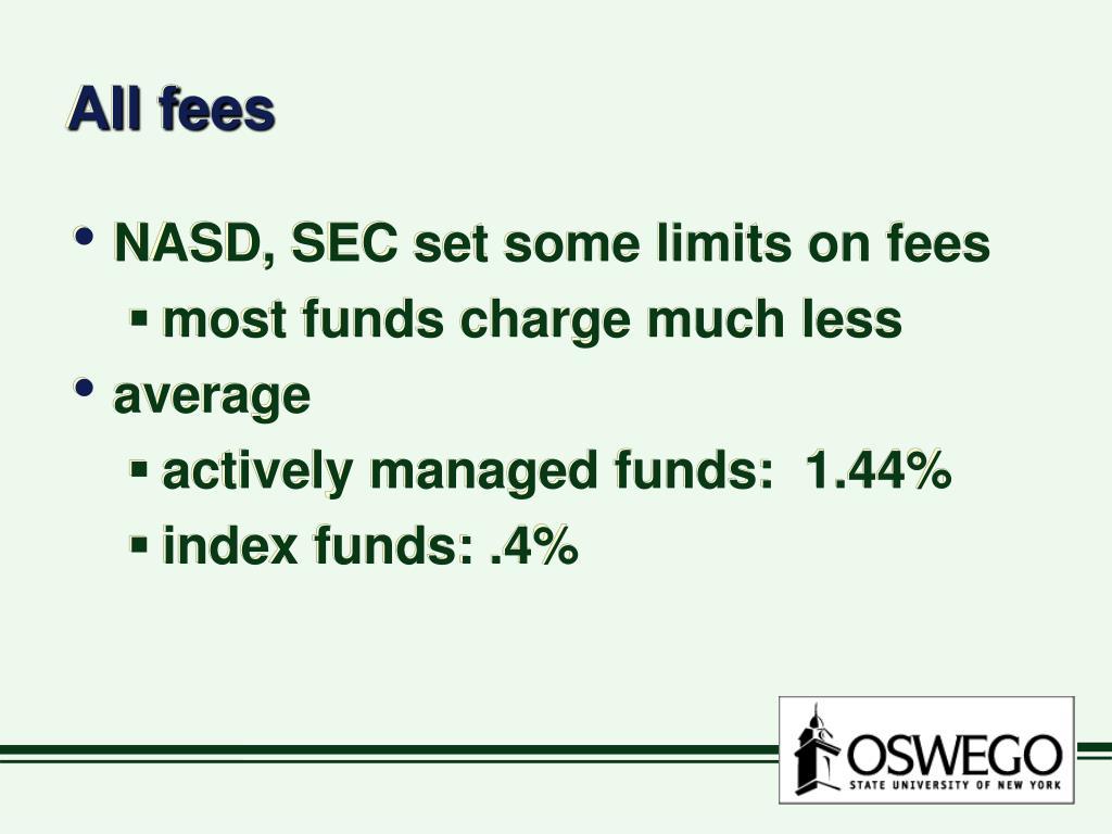 All fees