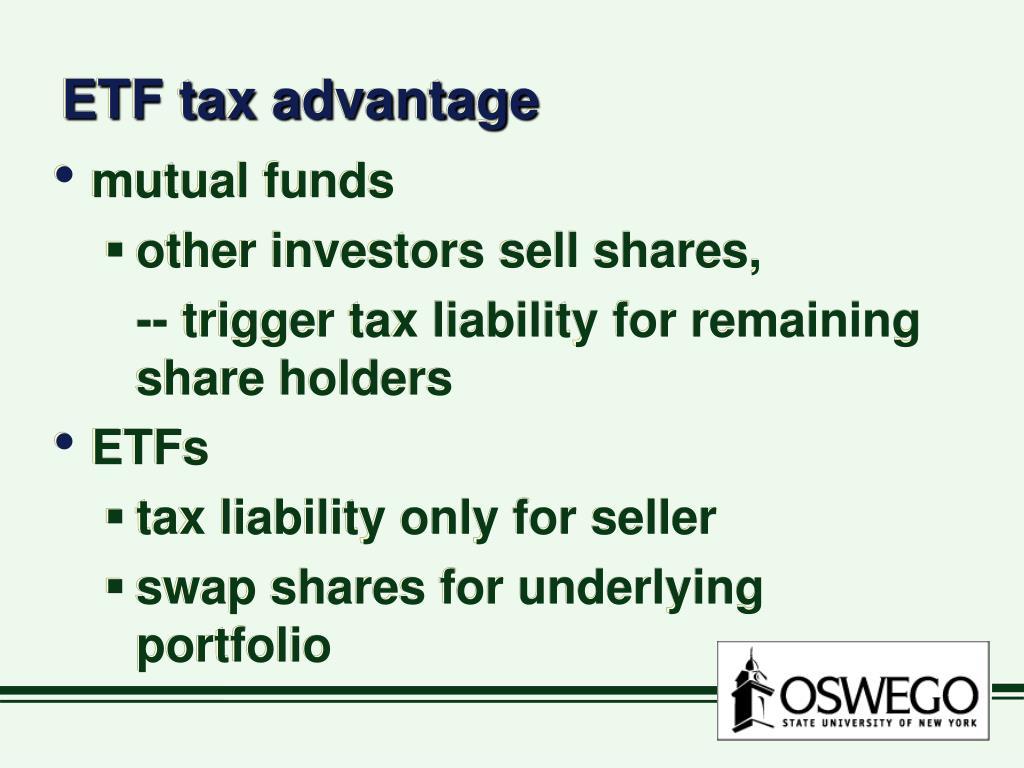 ETF tax advantage