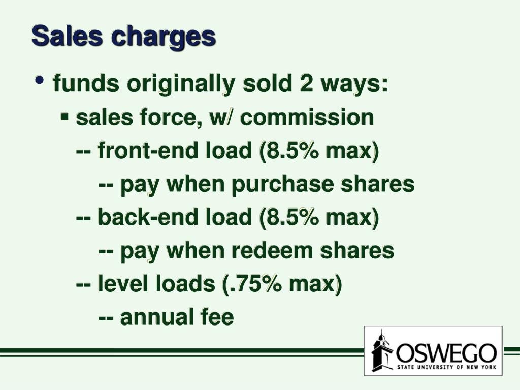 Sales charges