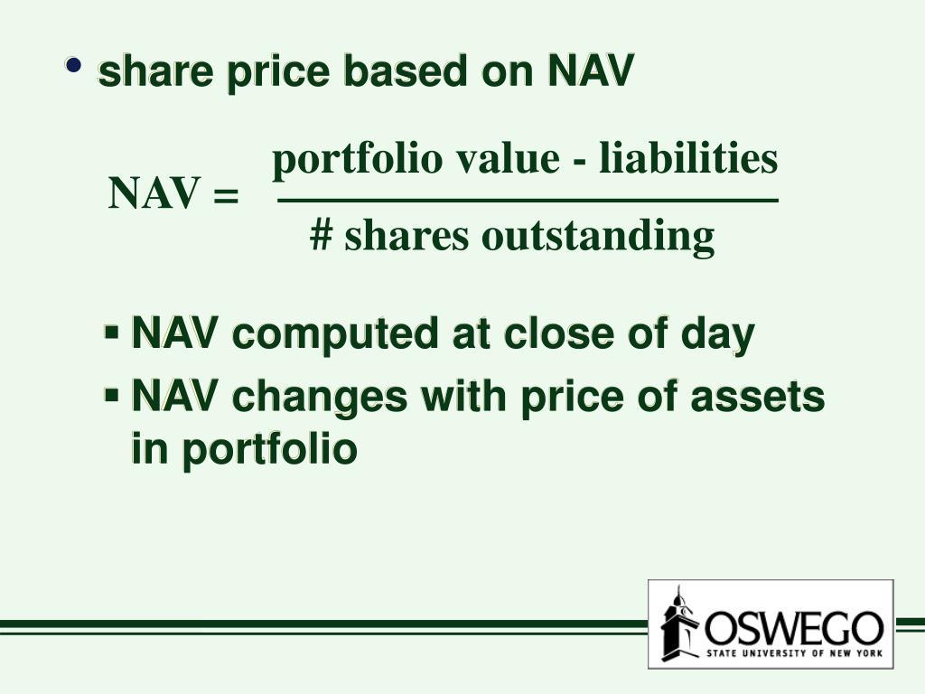 portfolio value - liabilities