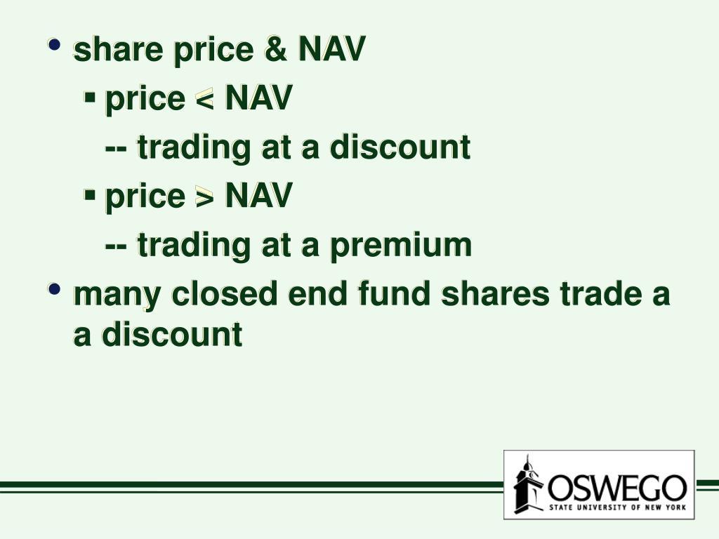 share price & NAV