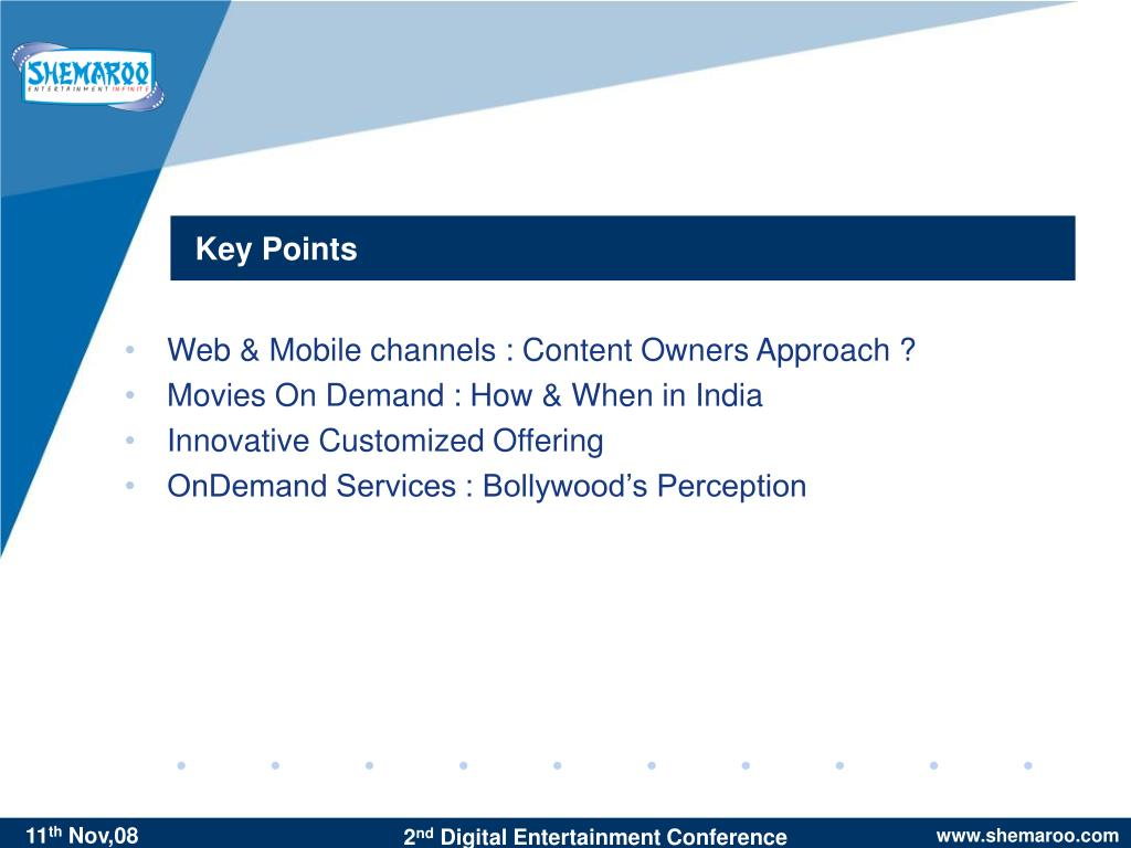 Web & Mobile channels : Content Owners Approach ?