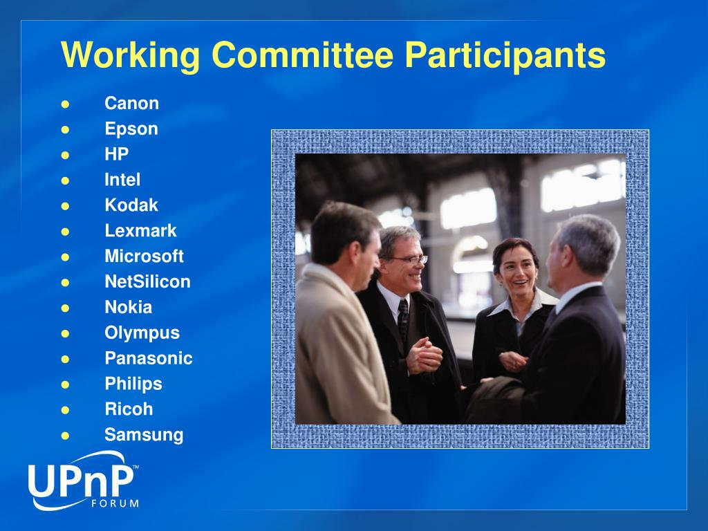 Working Committee Participants
