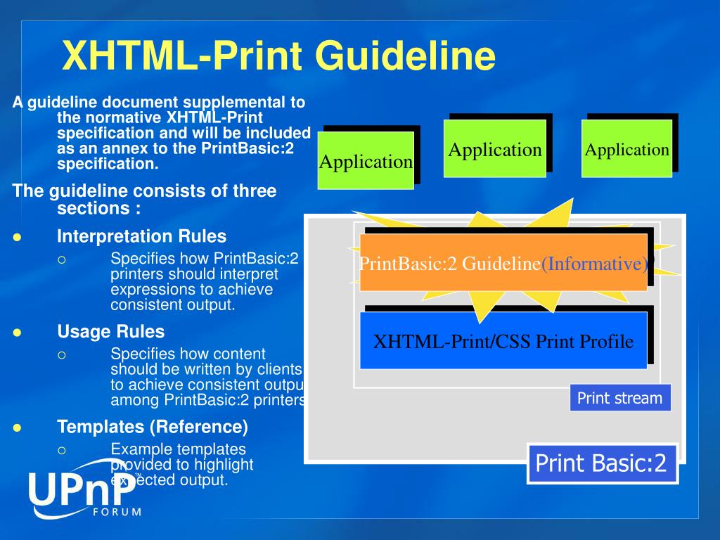 XHTML-Print Guideline
