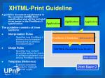 xhtml print guideline