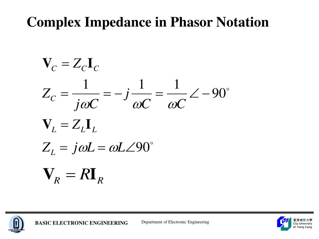 Complex Impedance in Phasor Notation