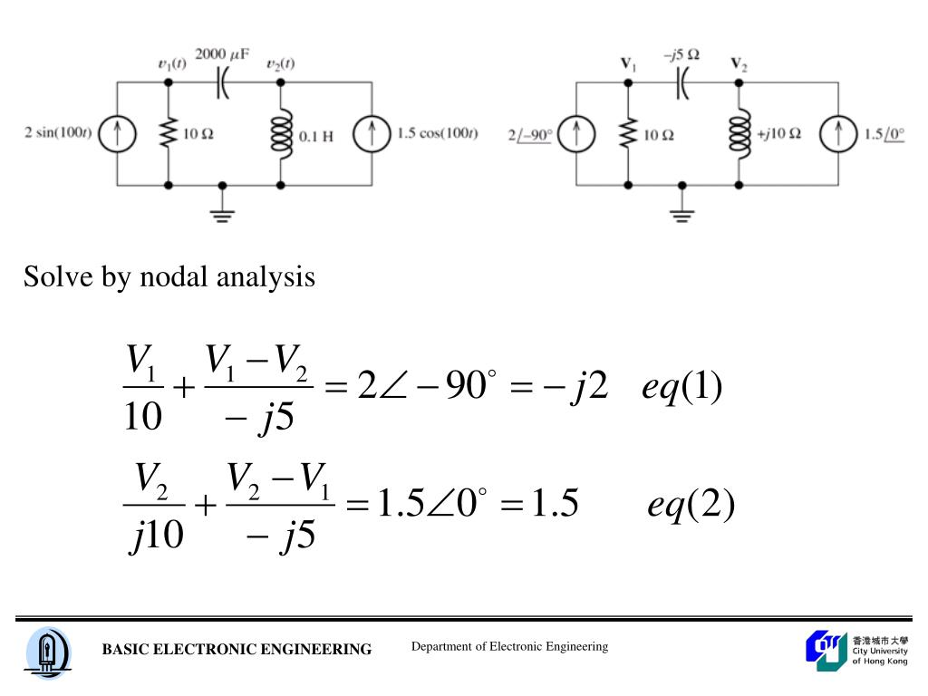 Solve by nodal analysis