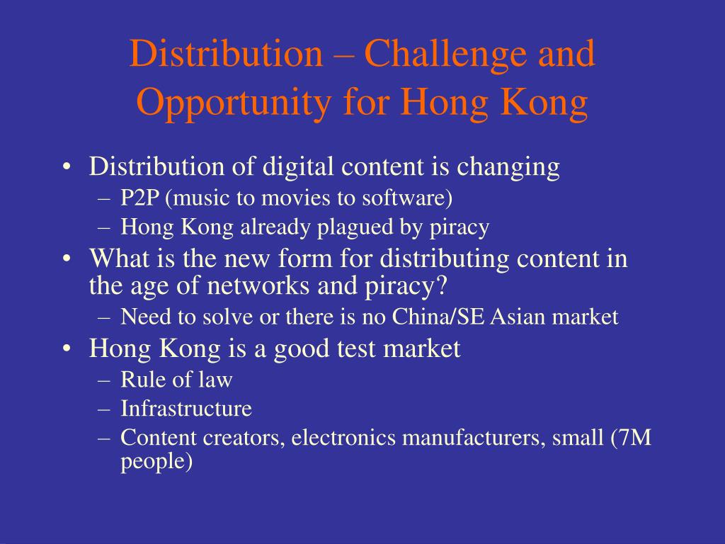 Distribution – Challenge and Opportunity for Hong Kong