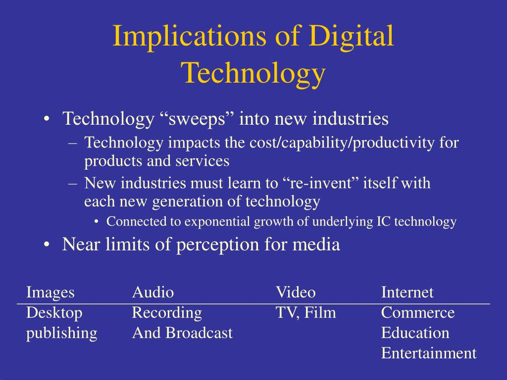 Implications of Digital Technology