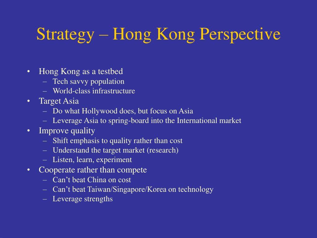 Strategy – Hong Kong Perspective