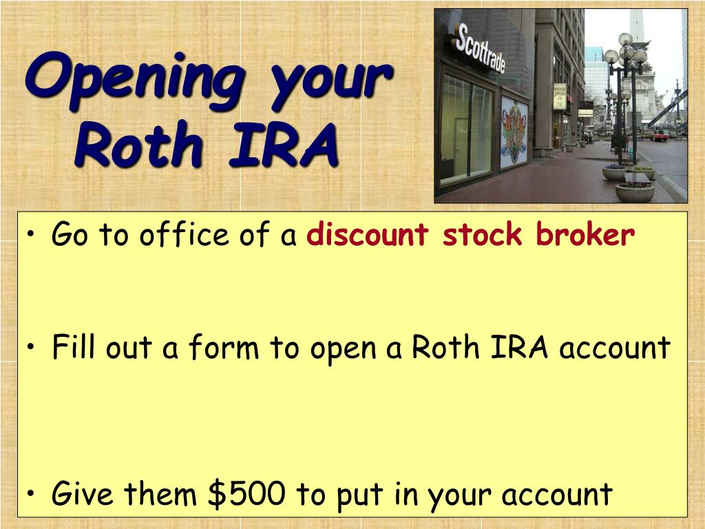 Opening your Roth IRA