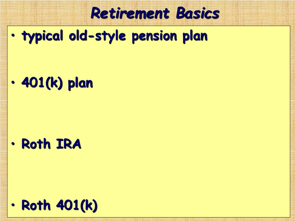 Retirement Basics