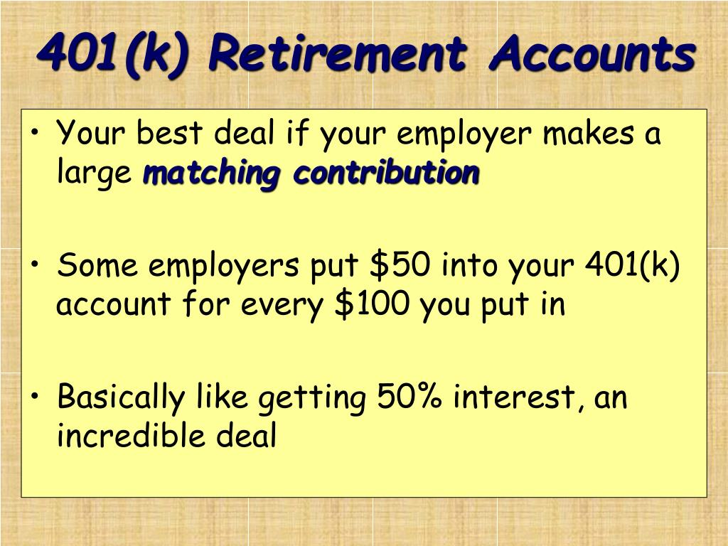 401(k) Retirement Accounts