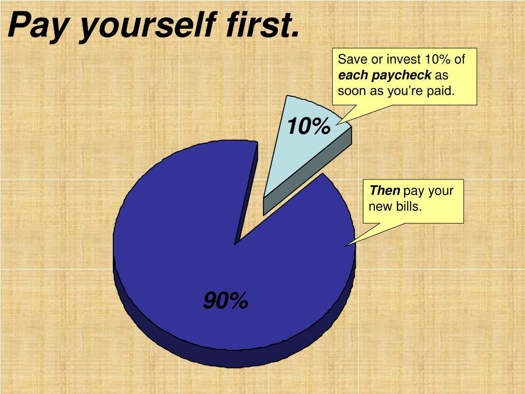 Pay yourself first.