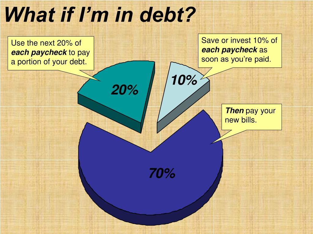 What if I'm in debt?
