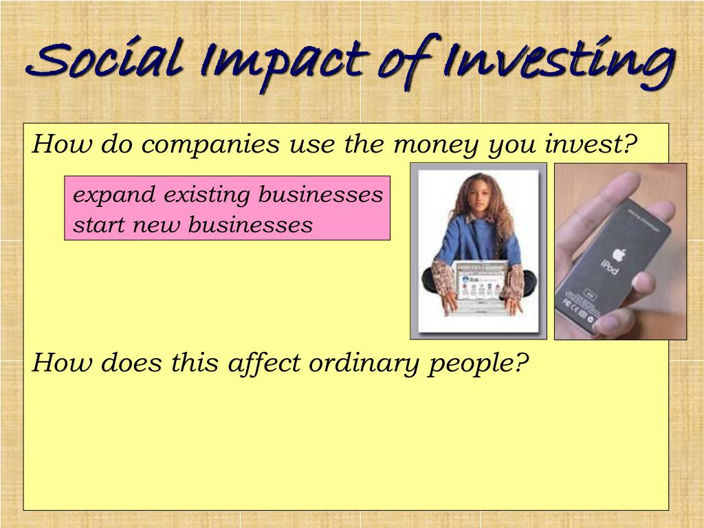 Social Impact of Investing