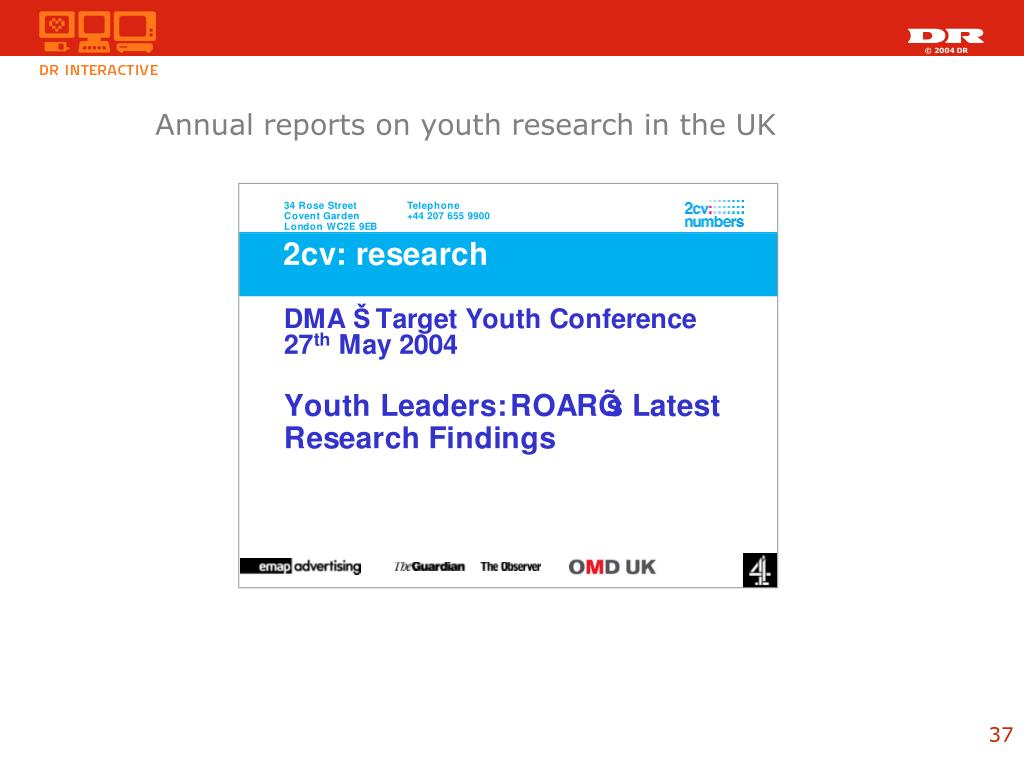 Annual reports on youth research in the UK