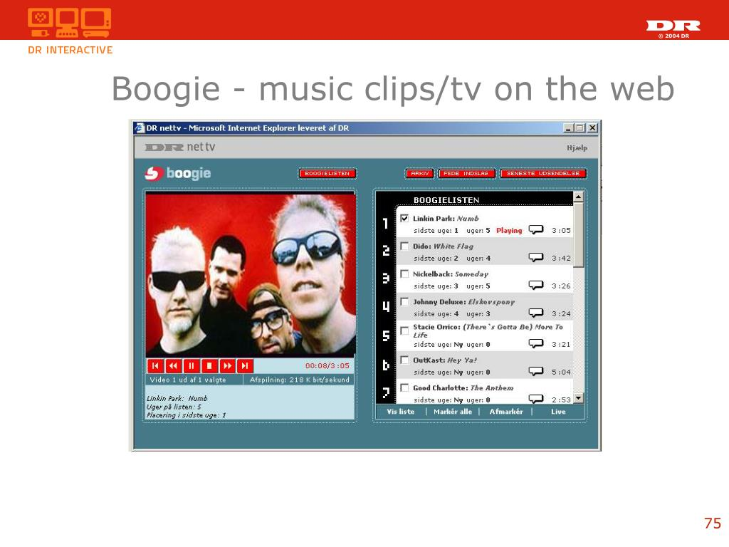 Boogie - music clips/tv on the web