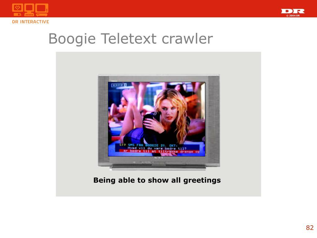 Boogie Teletext crawler