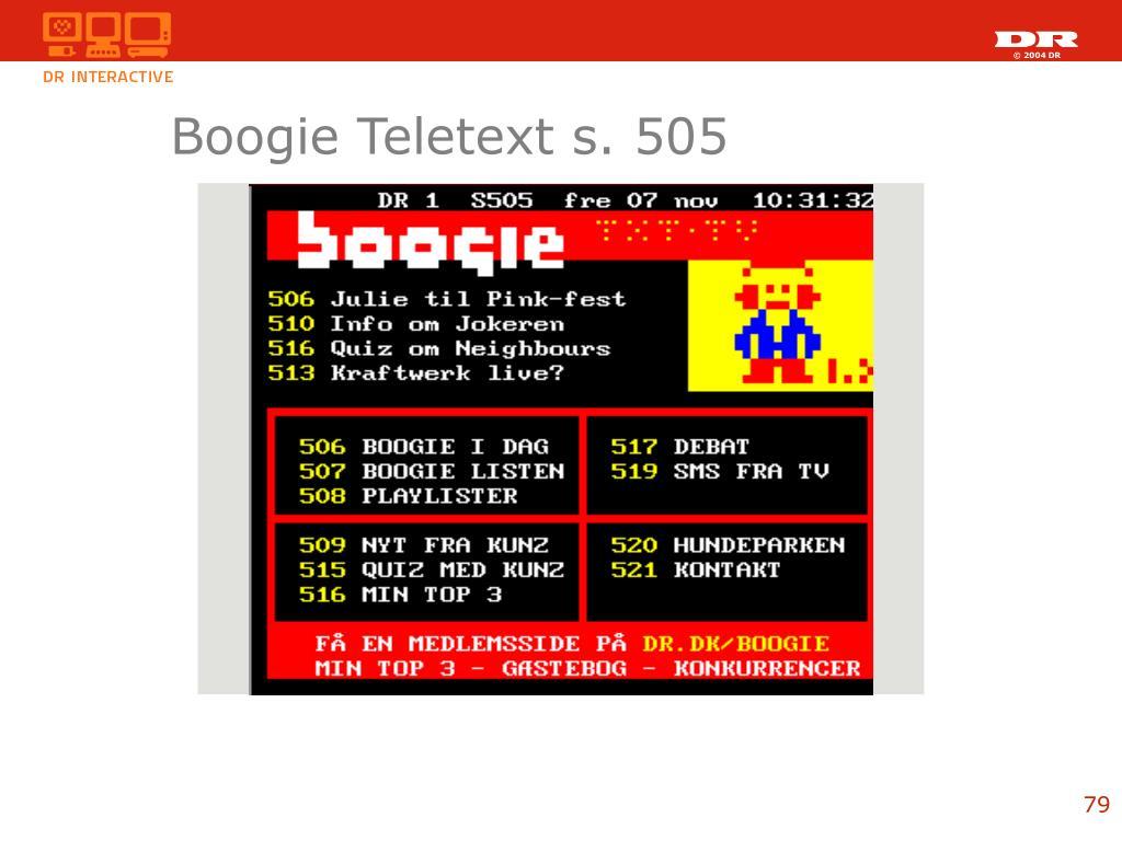Boogie Teletext s. 505