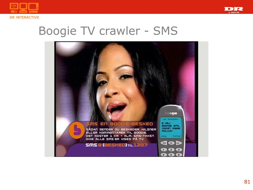 Boogie TV crawler - SMS