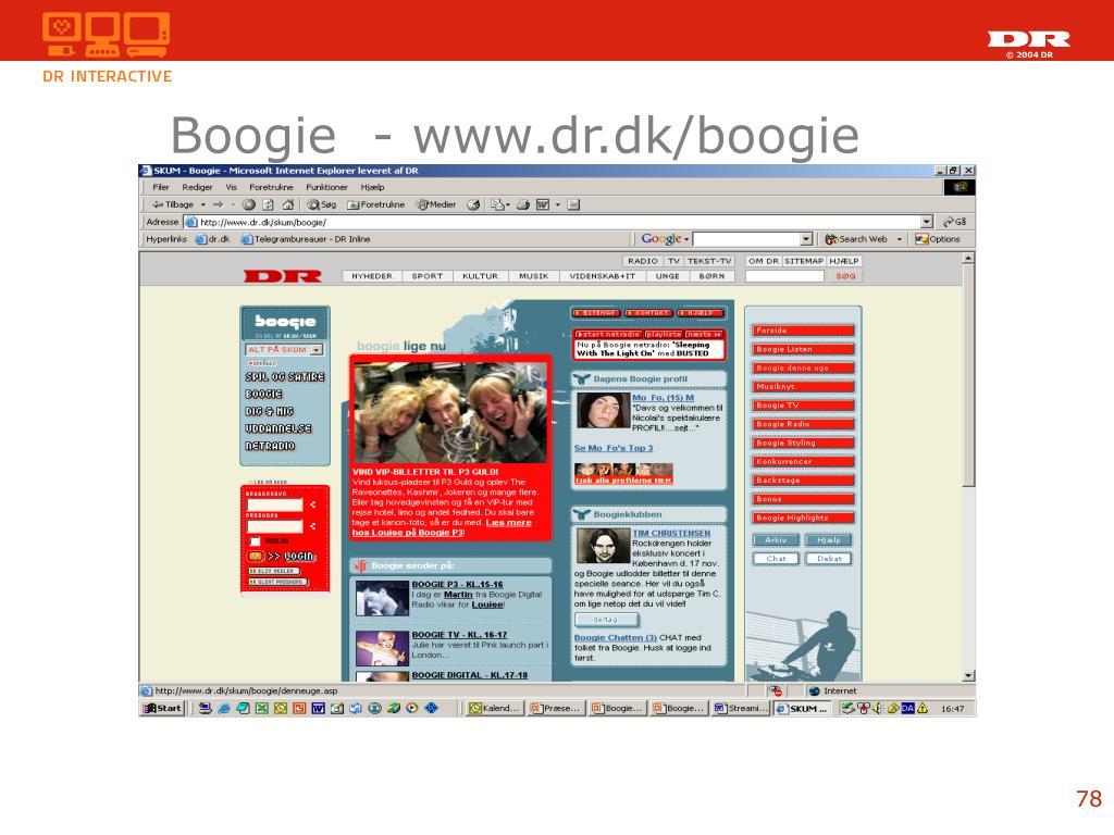 Boogie  - www.dr.dk/boogie