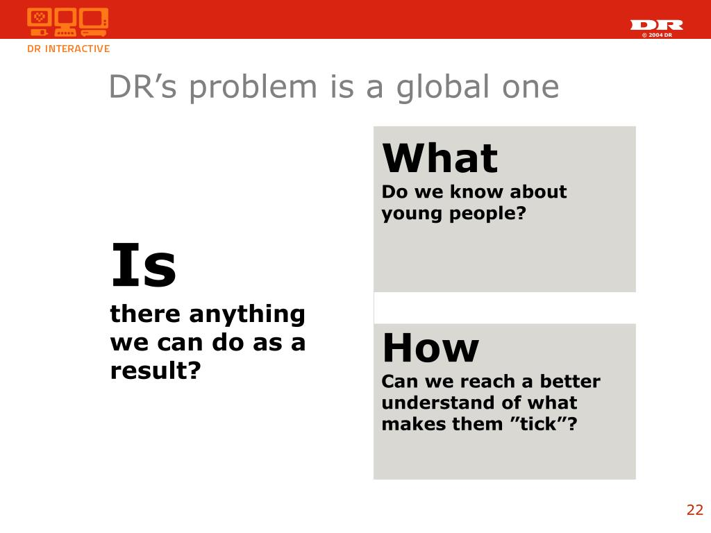 DR's problem is a global one