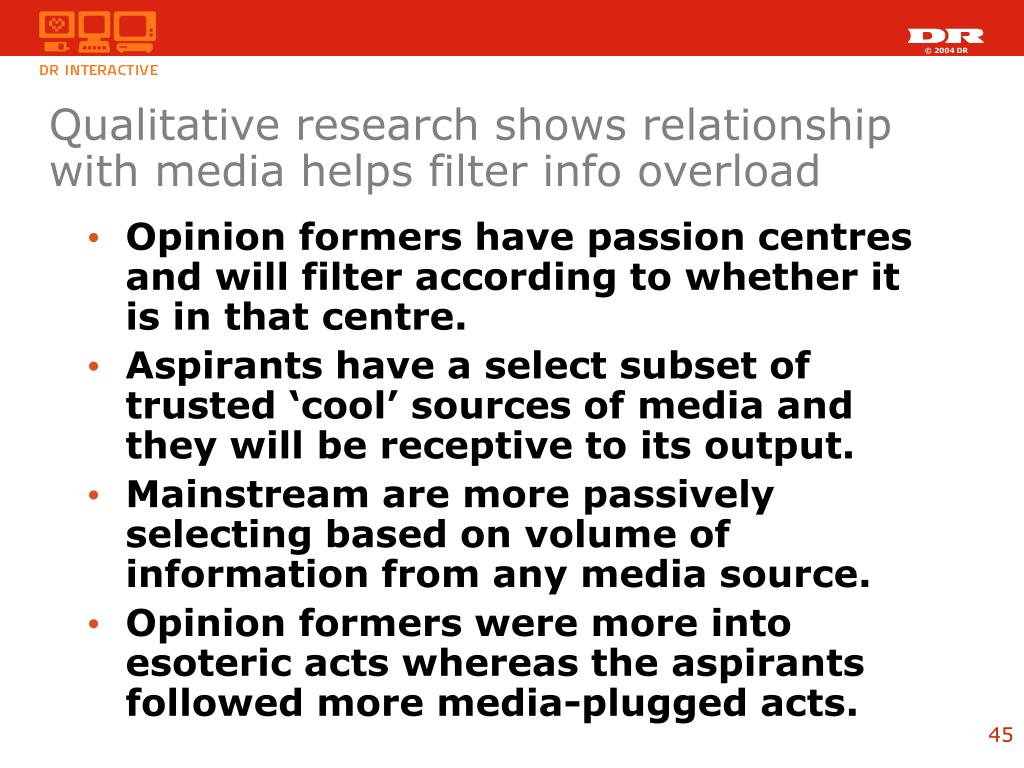 Qualitative research shows relationship with media helps filter info overload
