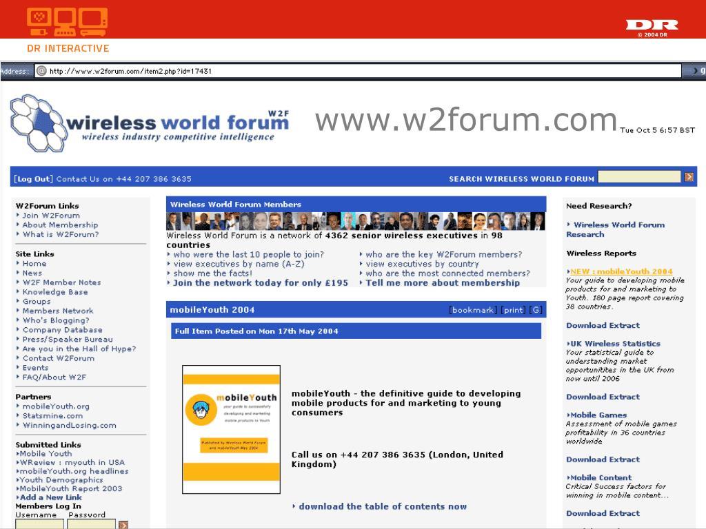 www.w2forum.com