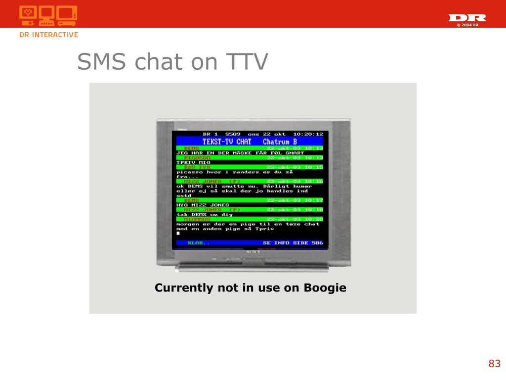 SMS chat on TTV