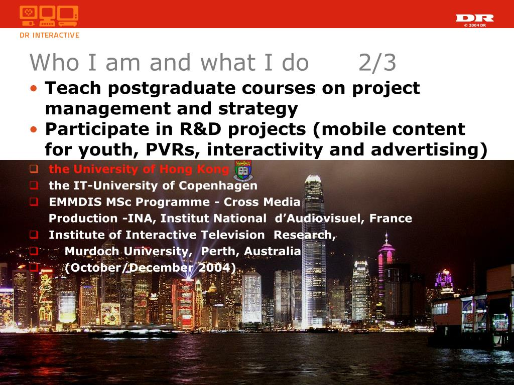 Teach postgraduate courses on project management and strategy