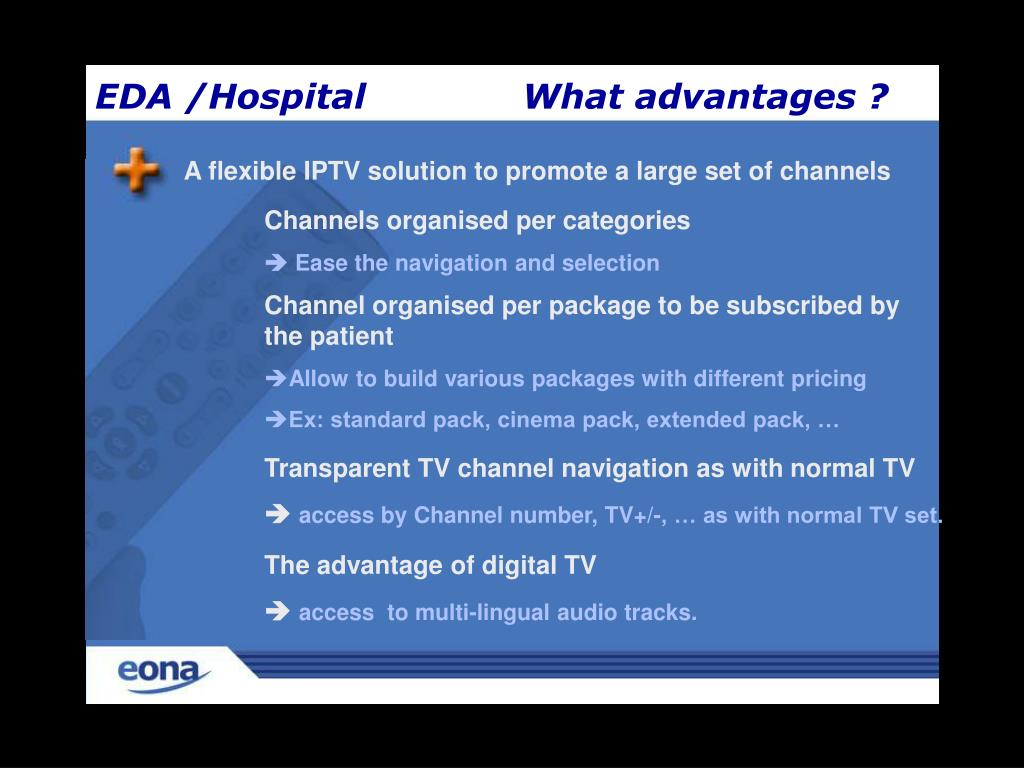 A flexible IPTV solution to promote a large set of channels