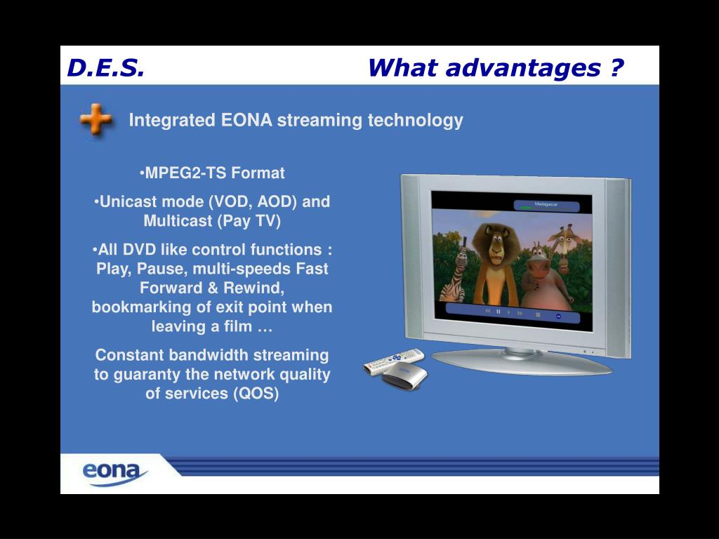 Integrated EONA streaming technology