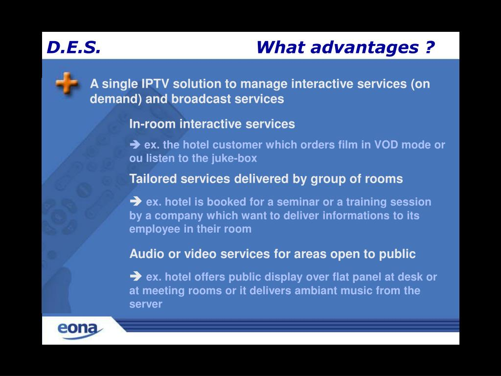 A single IPTV solution to manage interactive services (on demand) and broadcast services