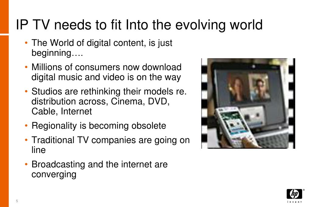 IP TV needs to fit Into the evolving world