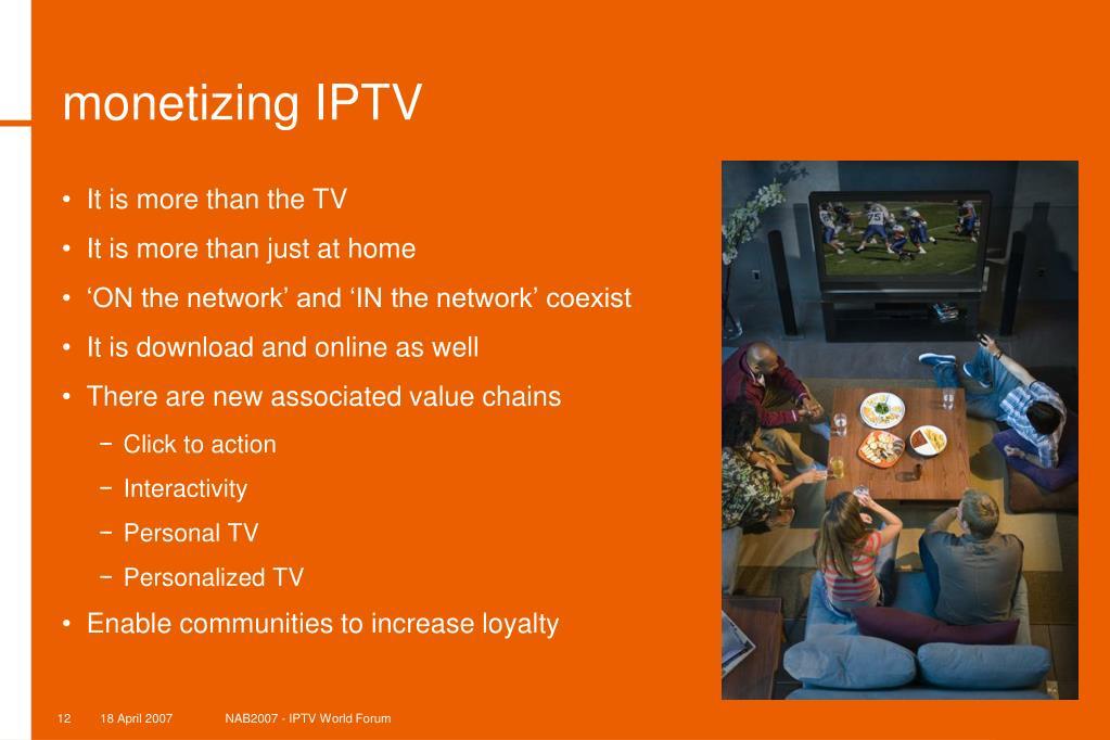 monetizing IPTV