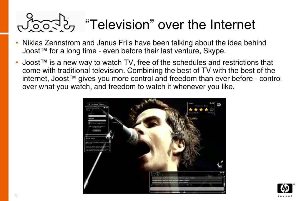 """Television"" over the Internet"