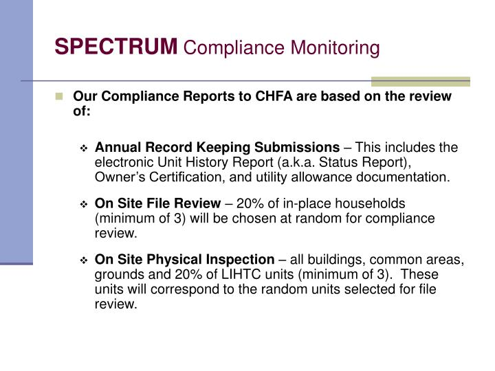 Spectrum compliance monitoring l.jpg