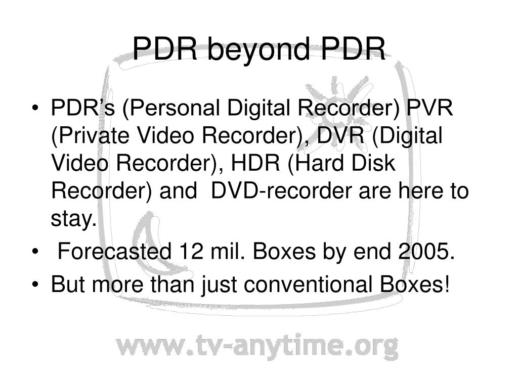PDR beyond PDR