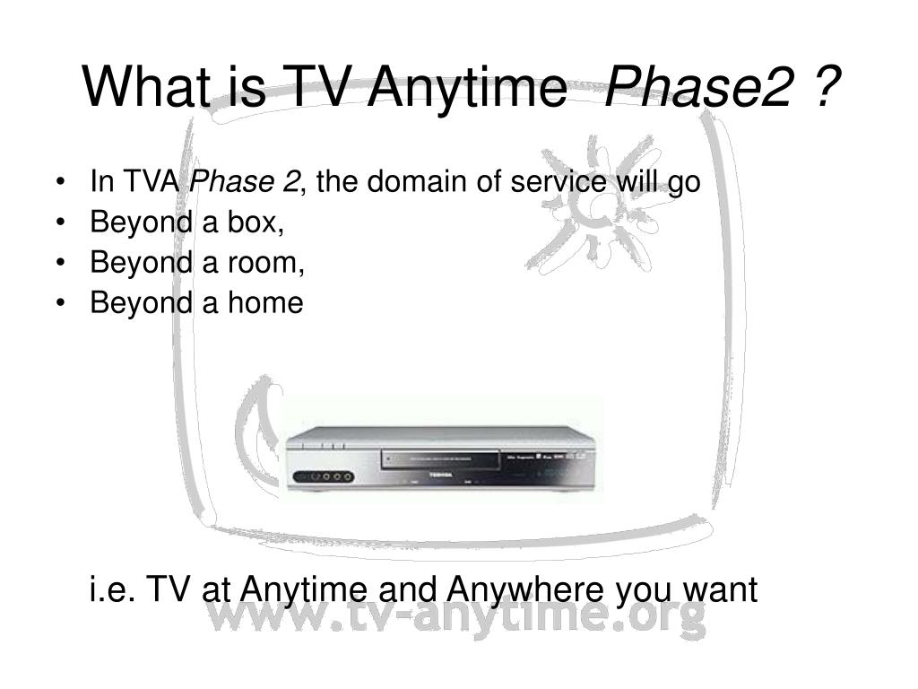 What is TV Anytime