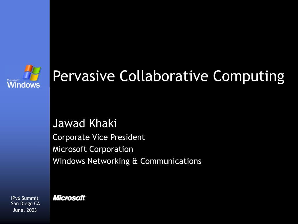 jawad khaki corporate vice president microsoft corporation windows networking communications
